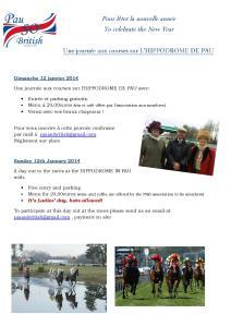 raceday january 2014