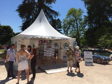 Our stand in Parc Beaumont